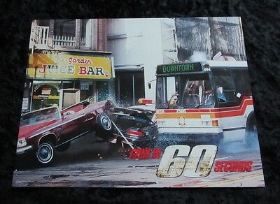 GONE IN 60 SECONDS lobby card # 8 CAR RACING