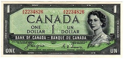 1954 Canada 1 Dollar Devil's Face Note - AA2234826, BC-29a