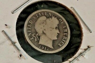 "1912 ""S""- Barber/Liberty Dime --SILVER"