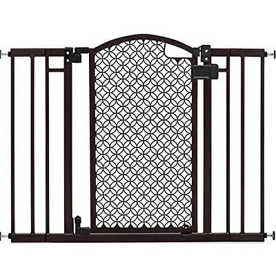 Safety Gate Walk Through Extra Wide Baby Child Pet Easy Close Fence Door Black