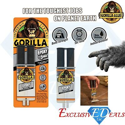 Gorilla Epoxy Glue Incredibly Strong Epoxy Adhesive Sets in 5 minutes - 25ml NEW
