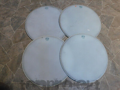 "4x NOS vintage MEAZZI HOLLYWOOD SINTETIC 18"" Fell Trommelfell drum head floortom"