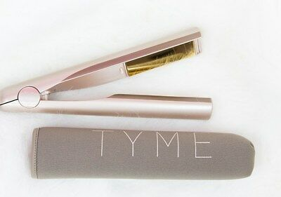 TYME Iron 2 in 1 Gold Plated Titanium Straightening Curling Hair Iron