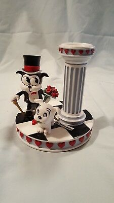 "Betty Boop ""Enchanted Evening"" Candle Holder, Bimbo & Pudgy Hearts, Danbury Mint"