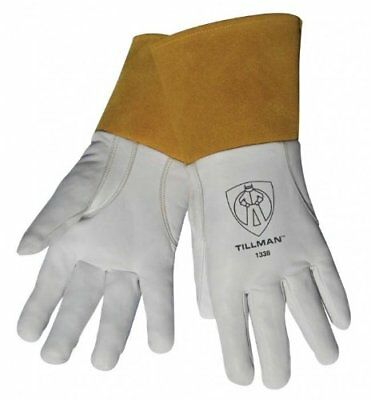 "Tillman 1338S Top Grain Goatskin TIG Welding Gloves with 4"" Cuff, Small"