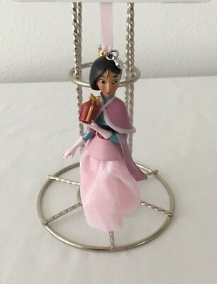 Disney Store 2017 Princess Mulan Sketchbook Holiday Ornament - New With Tags!