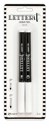 Broad Tip and Fine Tip - Embossing - Letter It Medium Pens 2 - Clear Ink