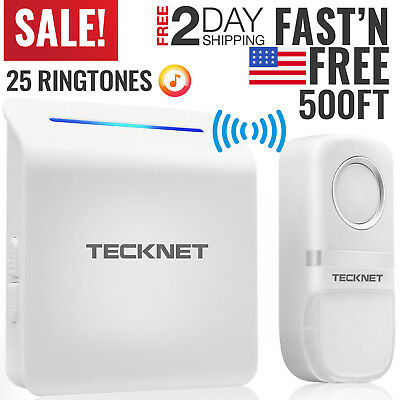 Wireless Doorbell Door Chime Kit Button Receiver Loud Sound Portable Cordless