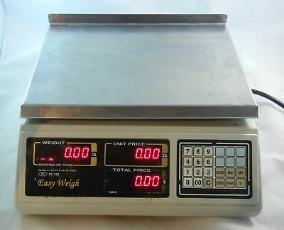 Easy Weigh PC-100-NL Legal for Trade Dual Range Price Computing Scale 30 60 lbs