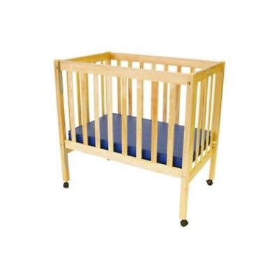 ELM Wooden Baby Cot - Natural With Foam Mattress