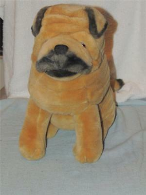Beautiful Realistic Golden Tan SHAR PEI Stuffed Plush Toy Dog Dakin 1986 Wrinkle
