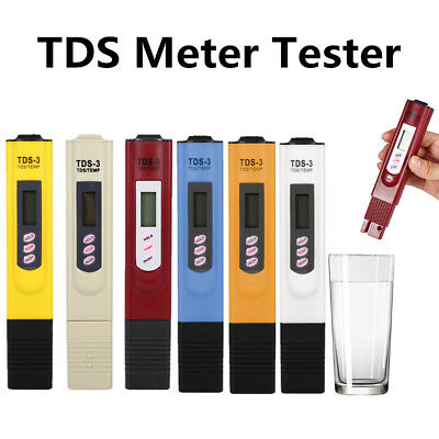 LCD Digital TDS-3 Meter Filter Pen Temp PPM Tester Stick Water Purity Tester ES