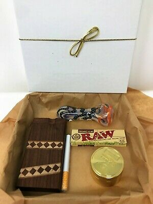 Dugout With Bat + Grinder, Juicy Jay Papers,1Hit Glass Hand-Pipe Gift Boxed Set