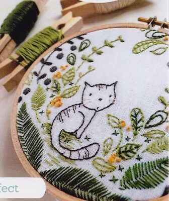 PATTERN - Purrrfect - cute cat stitchery hoop -  Creative Cards mini PATTERN