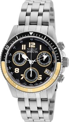 Invicta 24636 Pro Diver Women's 40mm Chronograph Stainless Steel Black Dial
