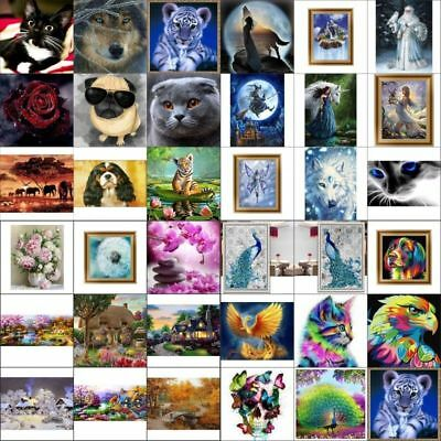 AU DIY 5D Diamond Embroidery Painting Cross Stitch Painting Home Decor Craft DIY