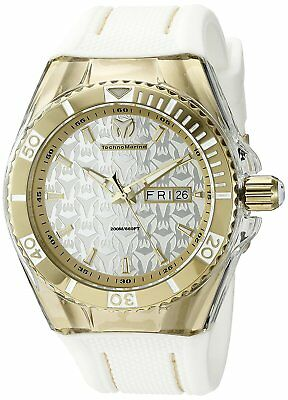 c7d0888987 Technomarine TM-115210 Cruise Men s 44mm Monogram Gold-Tone Silver Dial  Watch