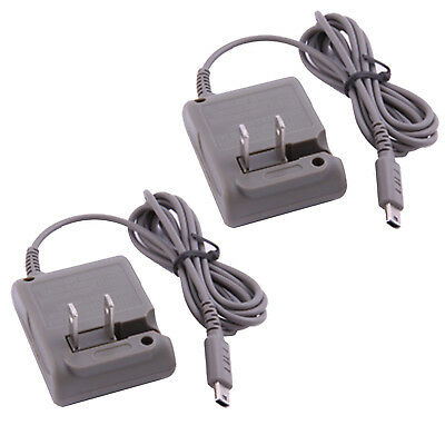 2Pack AC Power Home Travel Wall Charging Adapter For Nintendo DS Lite DSL NDSL