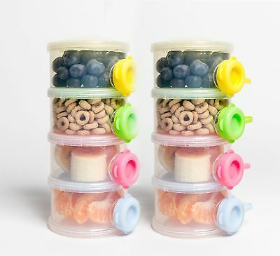 OceanBaby 4 Twist Lock Stackable Container Non Spill Baby Formula Contain... New