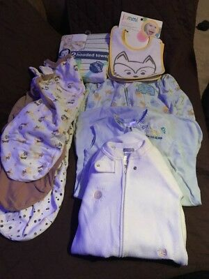 Sleep sack, Swaddle Me, Bibs And Hooded Towels Lot