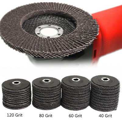 10Pcs Angle Grinder Flap Sanding Disc Silicon Carbide 4''100mm 40 60 80 120 Grit