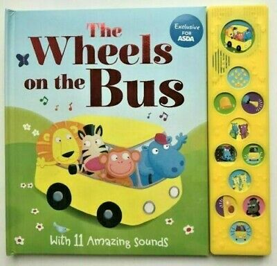 New, The Wheels On The Bus Sound Book, For Children Ages 0 Month+, Birthday Gift