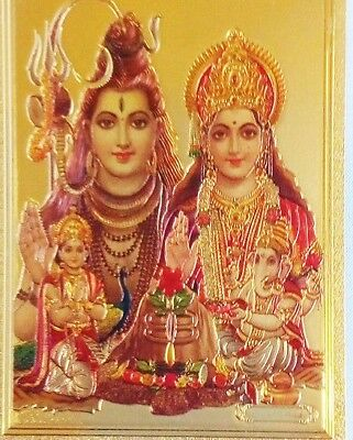 SHIVA AND PARVATI  STICKER Hindu Gold Indian India  (SPG-26)