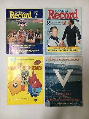 Football Record Lot Of 4 State Games