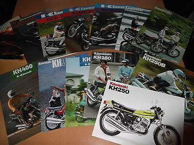 Kawasaki S1 S2 S3 KH250 KH400  Collection Of Sales Brochures - SPECIAL.