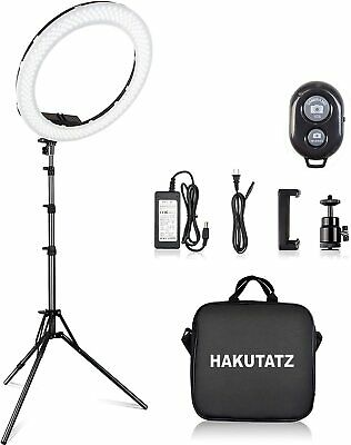 """LED Beauty Ring Light & Stand for Video or Photography 