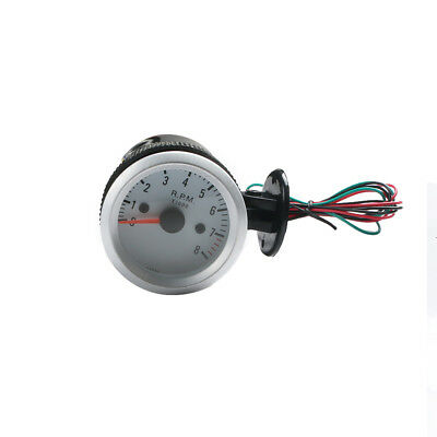2Inch 52mm Universal 0-8000RPM Blue LED Car Tachometer Tacho Gauge Meter White