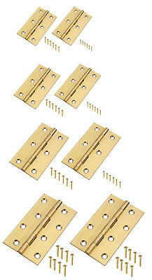 "Brass Butt Hinges 2""-4"" Small-Large Door Cabinet Cupboard Quality Solid Pair Of"