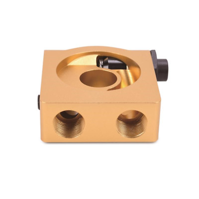 Mishimoto Thermostatic Rear-Mounted Oil Filter Sandwich M22x1.5 Plate - Gold