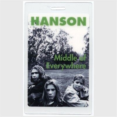 Hanson 1997 Middle of Nowhere Concert Tour Laminated Backstage Pass authentic