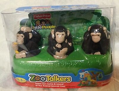 Fisher Price Little People Zoo Talkers Chimpanzee Family