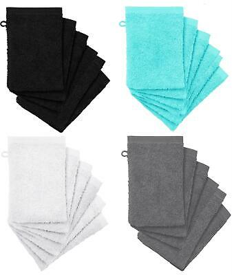 8 x Premium Quality 100% Cotton Wash Mitt Face Flannel Body Scrub