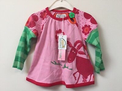 BNWT Pure Kids baby girls 100% cotton pink print top (various available sizes)
