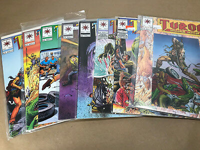 Turok : Dinosaur Hunter Complete Run 1-8 Valiant 1993 1 2 3 4 5 6 7 8
