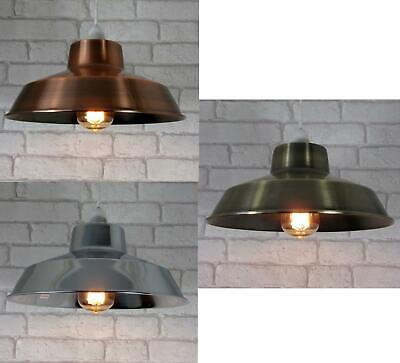 Vintage Metal Lampshade Ceiling Light Shade Copper Chrome or Brass