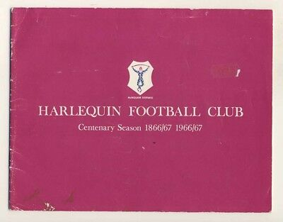 Harlequins Rugby, Centenary Brochure, 1966