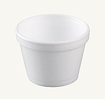 Dart 12SJ20, 12 Oz White Foam Cold/Hot Food Containers with Dome Lids, 50PCS