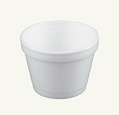 Dart 4J6, 4 Oz White Foam Food Containers with Vented Lids, 50PCS
