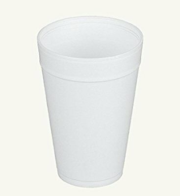 Dart 32TJ32, 32 Oz White Foam Plastic Cups with Vented Lids, 100PCS