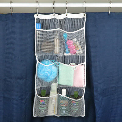Evelots Quick Dry Hanging Shower Caddies With 6 Pockets, Choose Single or 2 Pack