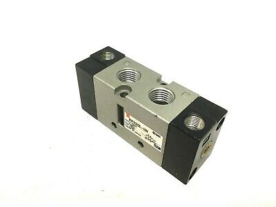 """SMC NVFA3230-02N Air Operated Valve, 2-Position 5-Port, Ports: 1/4"""" 1/8"""" NPT"""