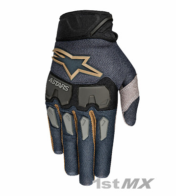 Alpinestars Aviator LE Black Gold Offroad Motocross MX Race Gloves Adults Small