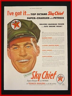 May 15, 1954 Texaco Sky Chief Ad ~ Super Charged With Petrox