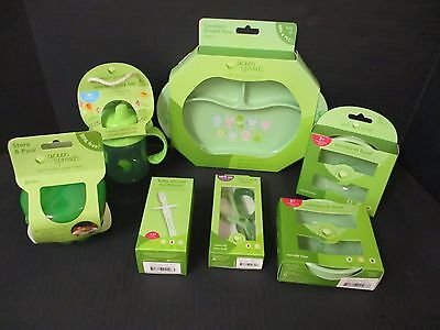 7 Green Sprouts - Assorted Feeding Dishes - Pvc Free - Plant Based - El 2577