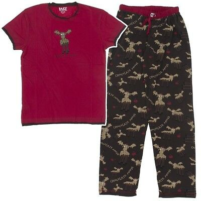 LAZY ONE CHOCOLATE Moose Cotton Pajamas for Women -  40.49  d00d8f6ae