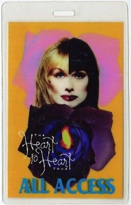 Heart authentic 1990 concert Laminated Backstage Pass Heart to Heart Tour